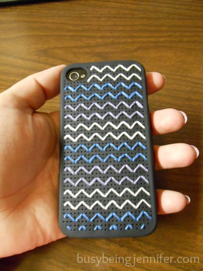 Completes DIY iPhone Embroidery Case ~ busybeingjennifer.com