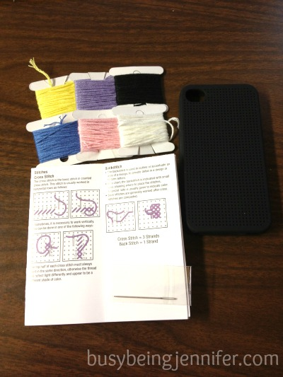 DIY Embroidery iPhone kit ~ busybeingjennifer.com