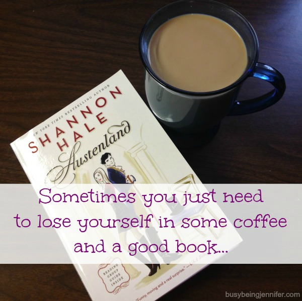 Lose yourself in coffee and a good book. - busybeingjennifer.com