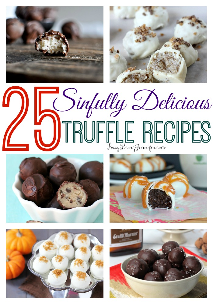25 Sinfully Delicious Truffle Recipes - BusyBeingJennifer.com