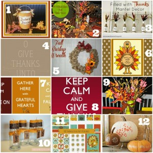 Decor and Printable ideas for Thanksgiving - busybeingjennifer.com