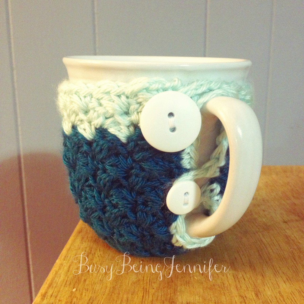 Crocheted Coffee Cozy  - BusyBeingJennifer.com