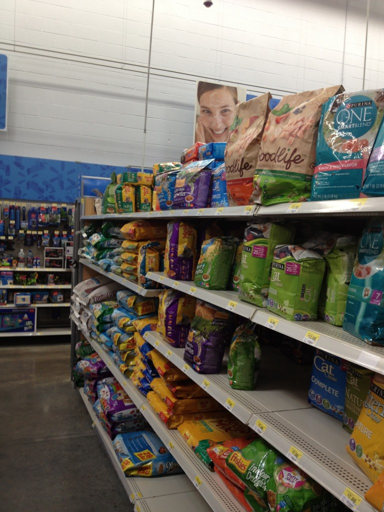 Cat food aisle in Walmart where I get my Goodlife Cat Food #goodlifepet