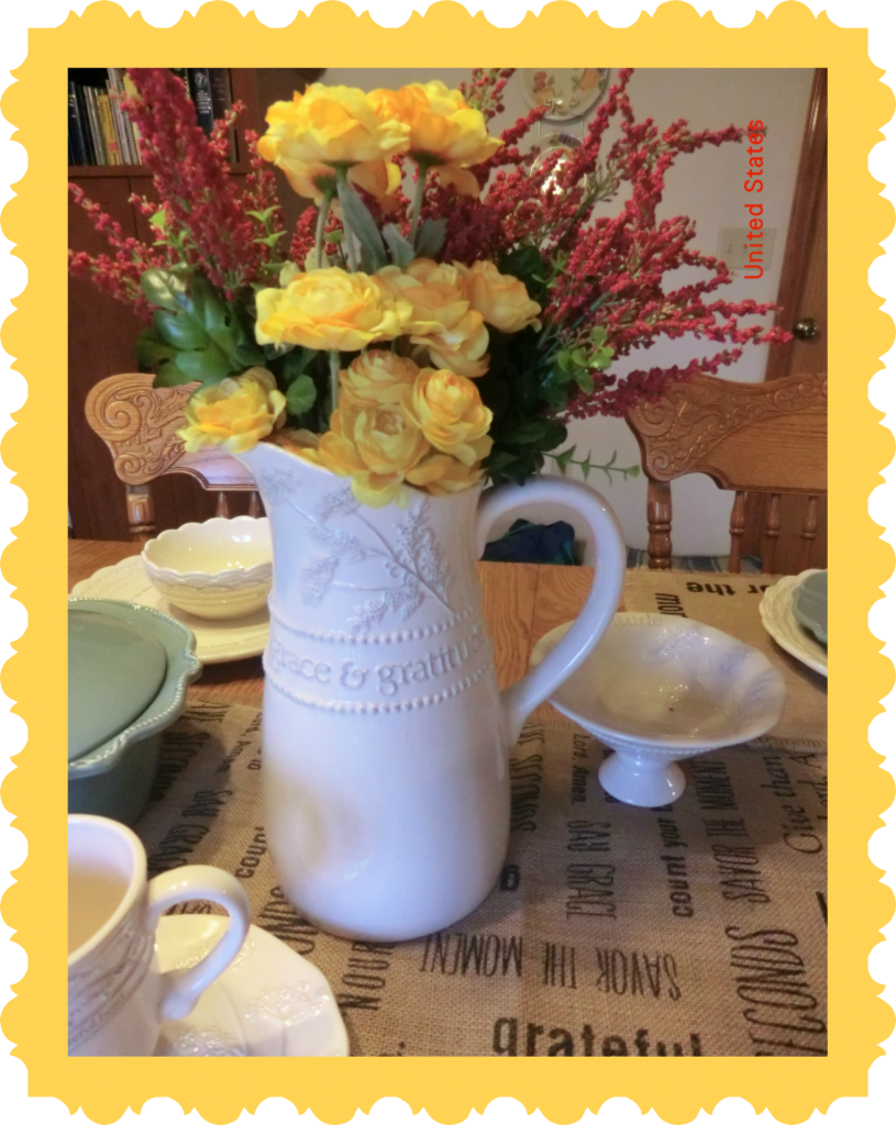 Forever Flowers in my Gratitude Pitcher - BusyBeingJennifer.com