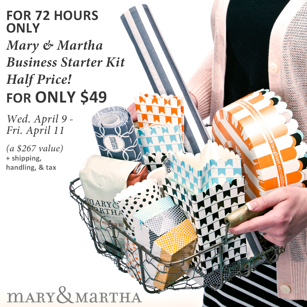 Starter Kit Offer from Mary and Martha
