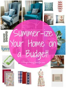 Budget Friendly Ways to Summer-ize your Home Decor - BusyBeingJennifer.com #home #syle #homedecor #DIY #Budget #BudgetFriendly