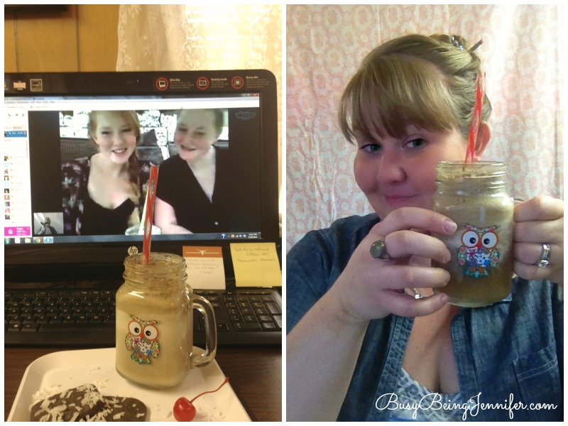 Hanging out with my sisters and sharing a Coke Float - BusyBeingJennifer.com  #ShareitForward #Shop #homemadeicecream