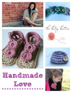 Handmade Love Featuring the Bitsy Button on BusyBeingJennifer.com