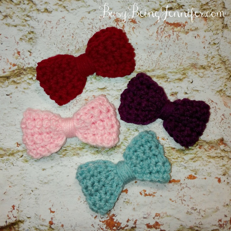 Bows for the Crocheted Hats! - busybeingjennifer.com