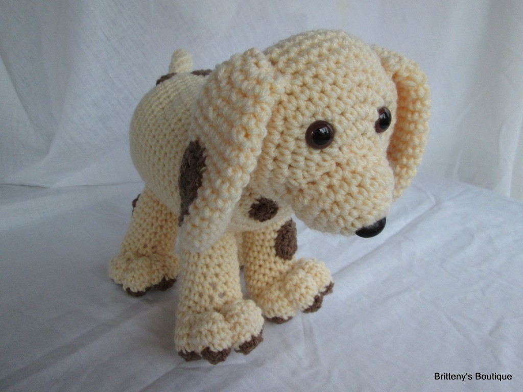 Win this adorable Crocheted Puppy in the color of your choice! - busybeingjennifer.com