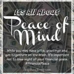 Its all about peace of mind - busybeingjennifer.com - #financialpeace #clevergirls #sp