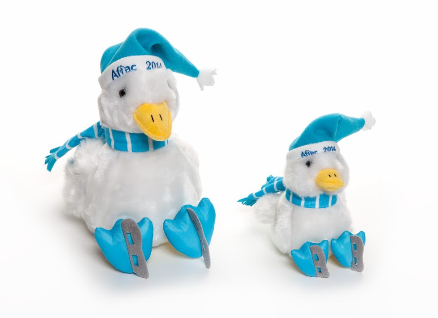 Aflac Duck dolls raising support and awareness.