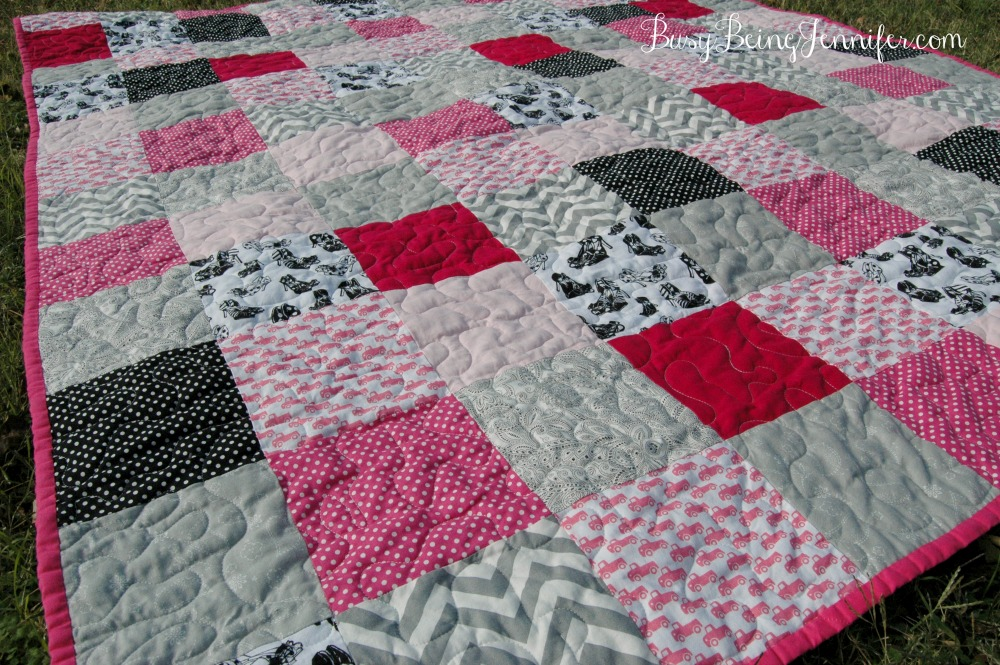 High Heels and Pink Trucks Quilt - BusyBeingJennifer.com