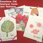 transform christmas cards into valentines