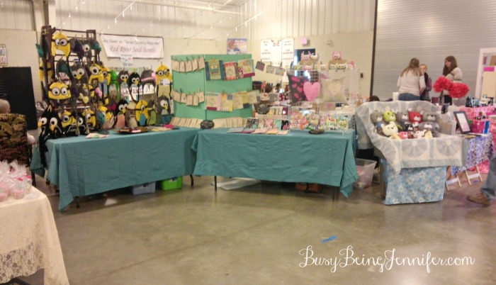 Homespun Happiness Set up for February Market