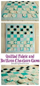 Quilted Fabric Checkers Game with Buttons - BusyBeingJennifer.com