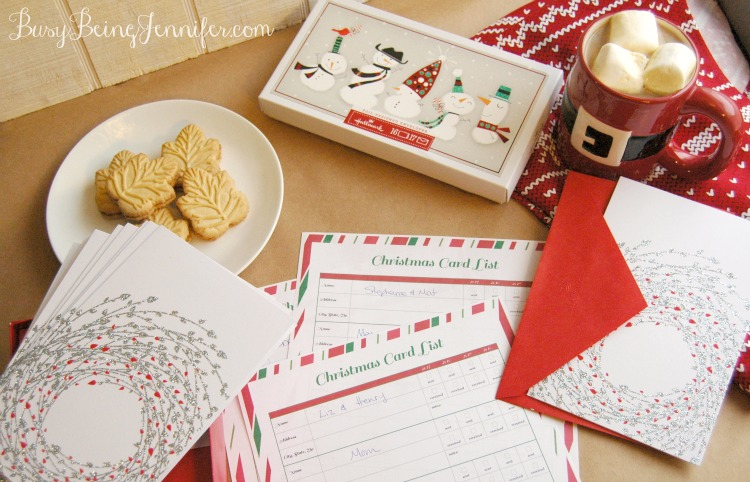 Getting Ahead on Those Christmas Cards! Plus a Free Address printable.