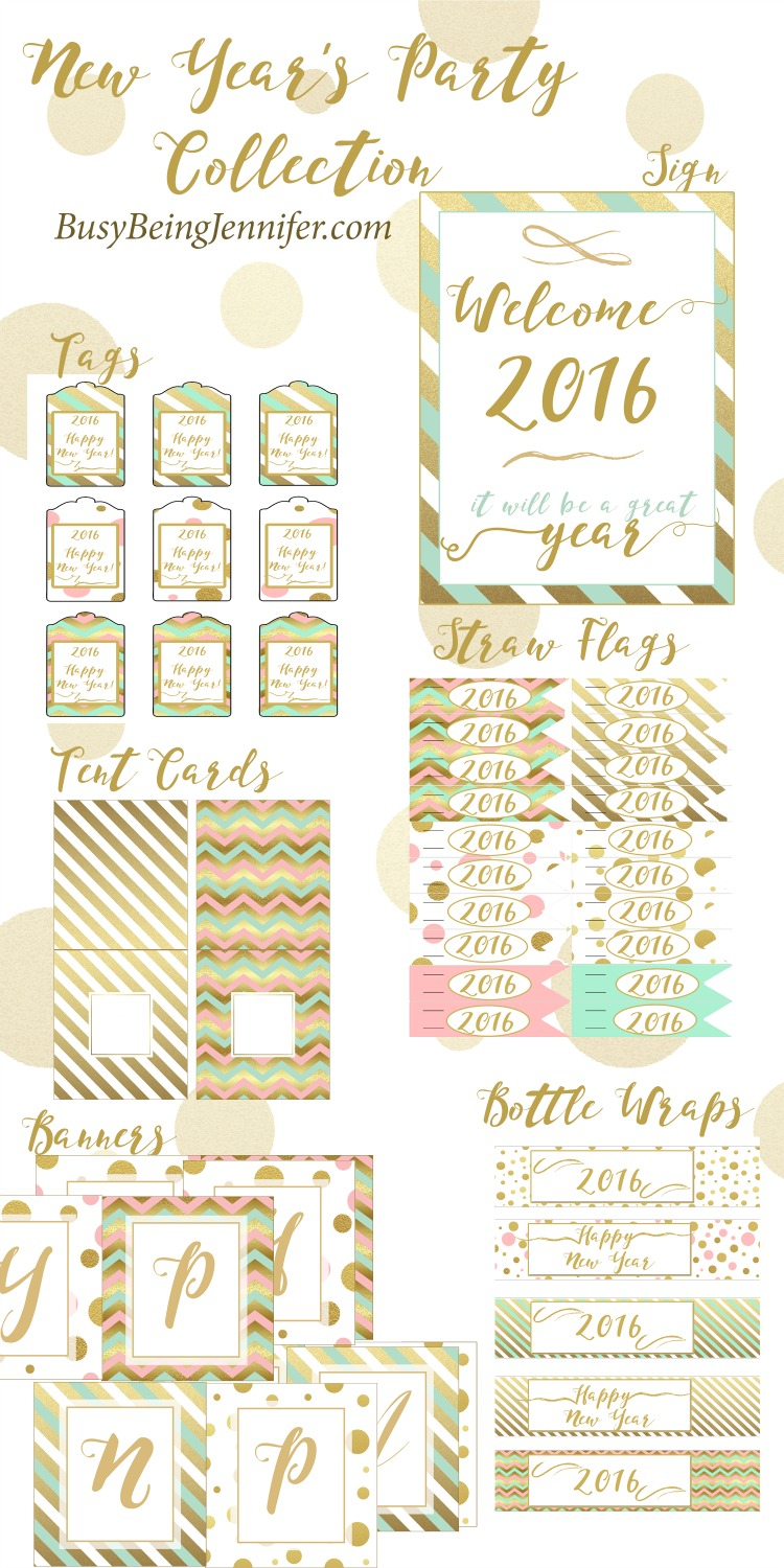 New Years Eve Printables Collection - BusyBeingJennifer.com