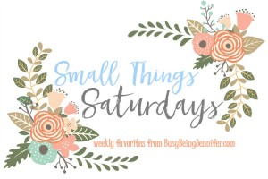 Small Things Saturdays - Weekly Favorites from BusyBeingJennifer.com