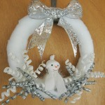 White and Silver Winter Snowman Wreath - BusyBeingJennifer.com