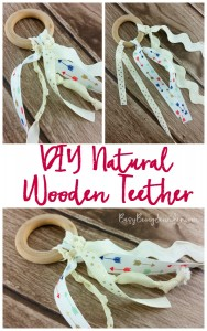 DIY Natural Wooden Teethers from BusyBeingJennifer.com