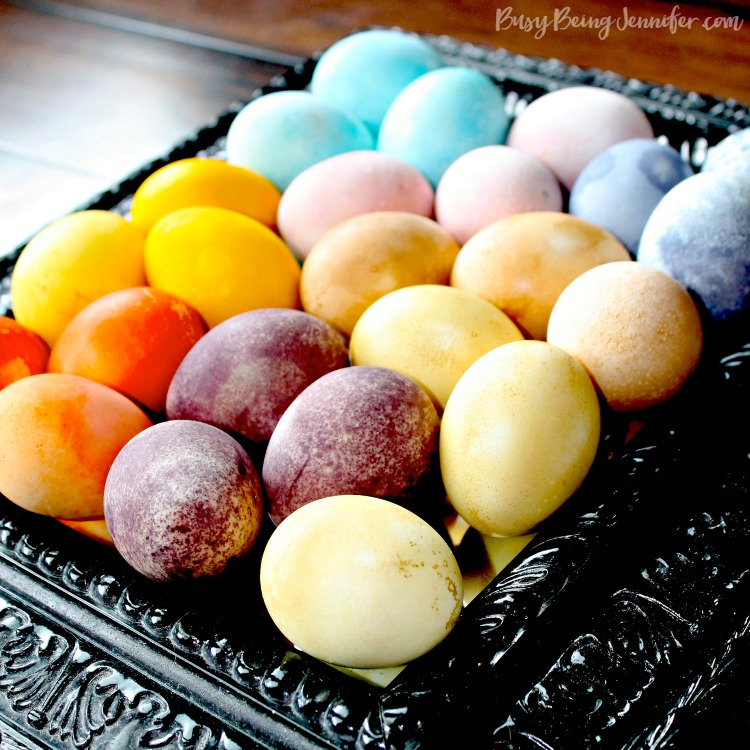Natural Easter Egg Dye Using Fruits and Veggies - BusyBeingJennifer.com