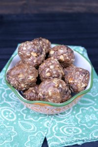 Nutty Chocolate No Bake Energy Bites - BusyBeingJennifer.com