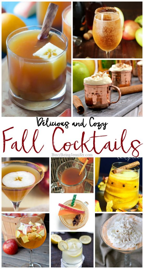Cozy and Delicious Fall Cocktails! ALl you need now is a good book to snuggle up with! - BusyBeingJennifer.com