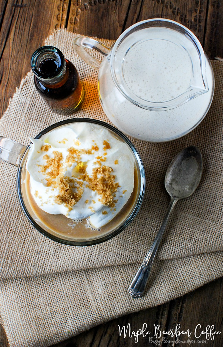 The perfect Fall Afternoon drink! This Maple Bourbon Coffee is Heaven in a cup!! - BusyBeingJennifer.com