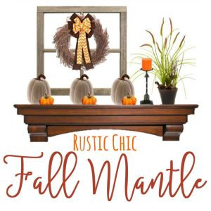 Everything you need to create the PERFECT Rustic Chic Fall Mantle!! I can't wait to get my mantle ready for fall! Get the details on BusyBeingJennifer.com