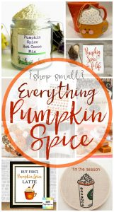 Oh fall, with all your fabulous smells, cooler weather and pumpkin spice everything, how I love you! Especially the pumpkin spice everything part :D - Shop Small with BusyBeingJennifer.com
