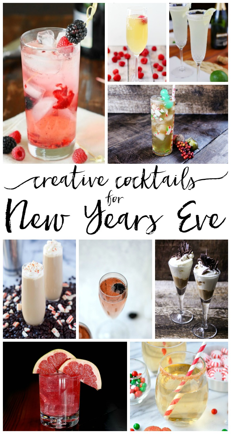 Creative Cocktails for New Years Eve - BusyBeingJennifer.com