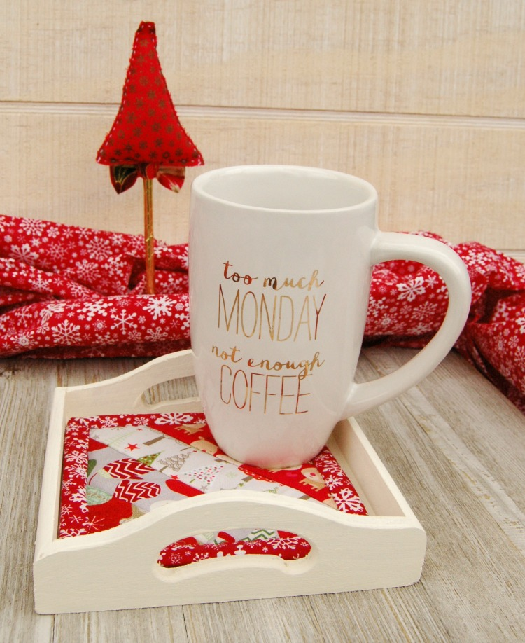 Holiday Mug Rug and Coffee Mug Gift Idea! Perfect for the Tea or Coffee Lover in your Life! - BusyBeingJennifer.com