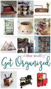 get organized {shop small} - fun items from etsy to help get your household organized - busybeingjennifer.com