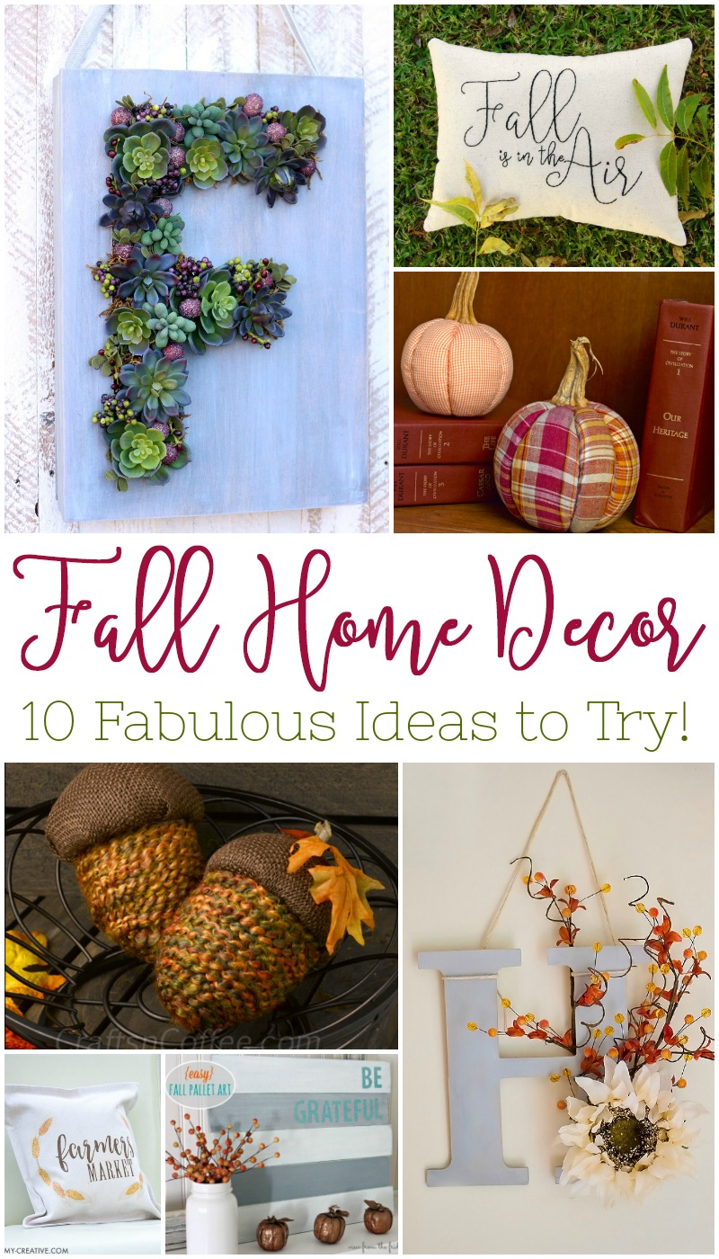 Are you ready to get your fall DIY on? These Fall Home Decor Ideas are a fabulous way to start adding some seasonal flare and creativity!