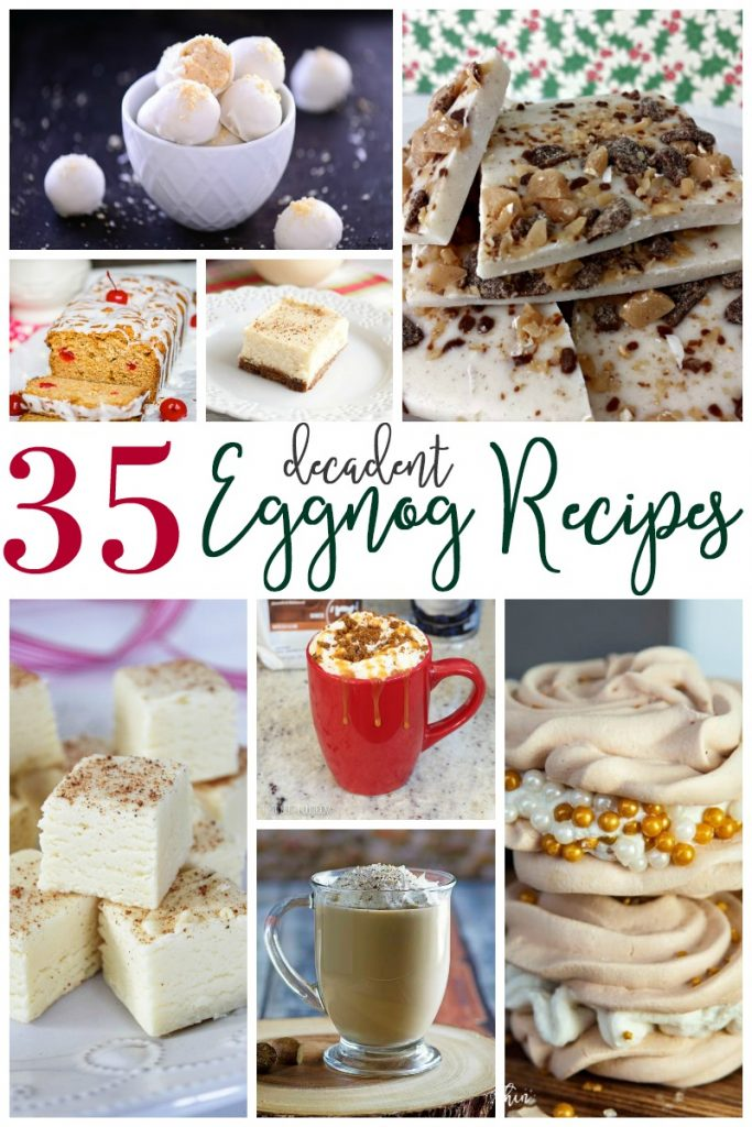 Creamy, sweet, rich, and with just a hint of spice! All things that say EGGNOG to me! These decadent eggnog recipes share all those delicious things!