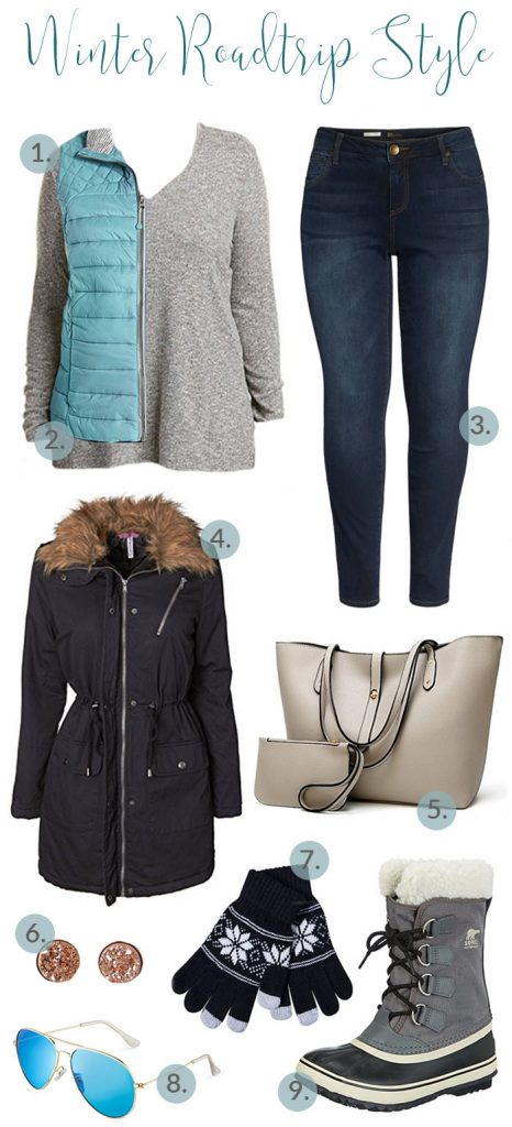 Winter Roadtrip Style doesn't have to be complicated. In fact, simple is better. You want at least 3 layers! Something warm, but not too heavy as a base!