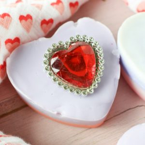 "DIY Valentine ""Bling"" Soap Bars"