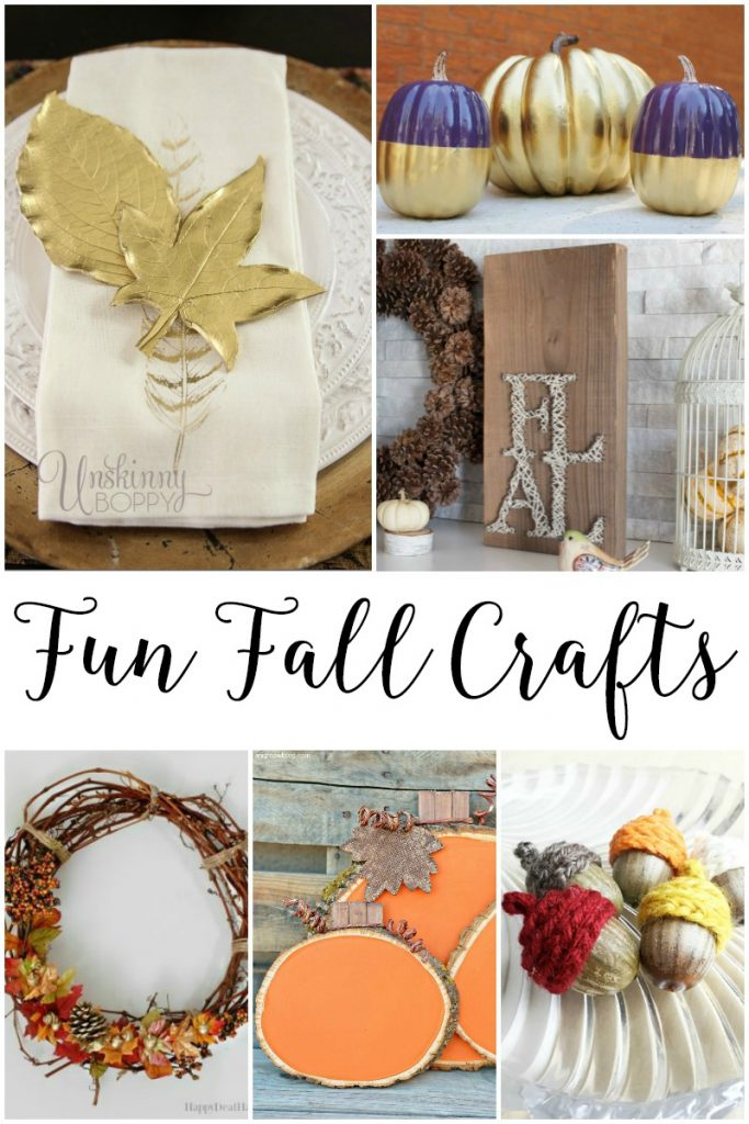 Fall Crafts and Decor: I've collected a few easy and fun Fall Crafts and Decor Projects to get you inspired and excited too!
