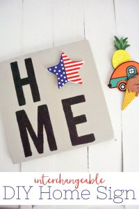 This DIY Home Sign is an easy craft project that will add some fun and charm to your home decor each season! Perfect for a little weekend crafting!