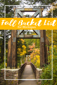 Michigan is one of the prettiest states to experience all that autumn has to offer! If you need some family friendly ideas for your fall bucket list for Michigan, I've got you covered!