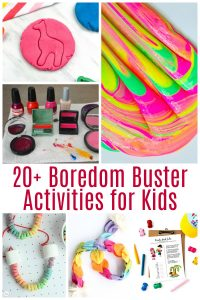 Having the kids home with nothing to do can be a real challenge, especially if you still have work to do! These boredom buster activities for kids are a life saver!
