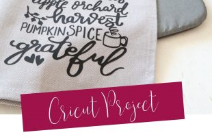 Fall Hand Towel Cricut Craft Project Free SVG
